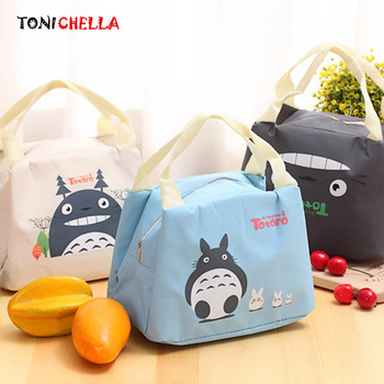 Portable Baby Feeding Milk Bottle Thermal Insulation Bag Totoro Cartoon Mummy Travel Breast Milk Kettle Warmer Food Tote BB5043