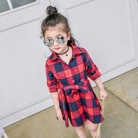 New Sping,Autumn,summer girls dress plaid pattern princess dresses long sleeve dress children clothing kids dresses for girls