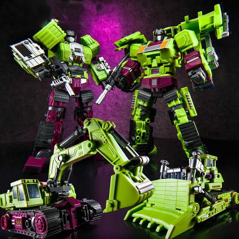 Transformation Oversize Ko Gt JinBao Devastator Figure Toy Hexahedral Engineering Vehicle Deformation Toy
