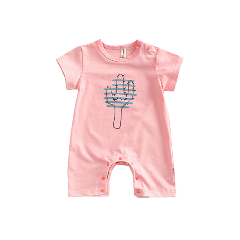 Short Sleeve Baby Rompers Newborn Baby Clothes Infant Jumpsuits Summer Cotton Girl Cactus Print Rompers Body For Babies summer cotton baby rompers infant toddler jumpsuit lace collar short sleeve baby girl clothing newborn overall clothes
