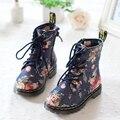 Бесплатная доставка детская обувь для девочек корова мышцы износ - устойчивые скольжению малышей цветочный джинсовые обувь 2 - 10 т