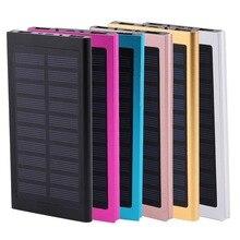 Повербанк Солнечный Мощность bank 10000 мАч Ultra Slim Dual USB светодио дный светодиодный свет внешний Baterry мАч 10000 запасные аккумуляторы для телефонов iPhone X 8 7 6s Xiaomi Mi