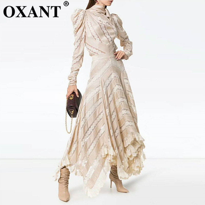 OXANT Women's Set High Cut Overlapping Heavy Lace Bow Top Half Skirt, Full Skirt Set  Two Piece Set  Women Two Piece Outfits