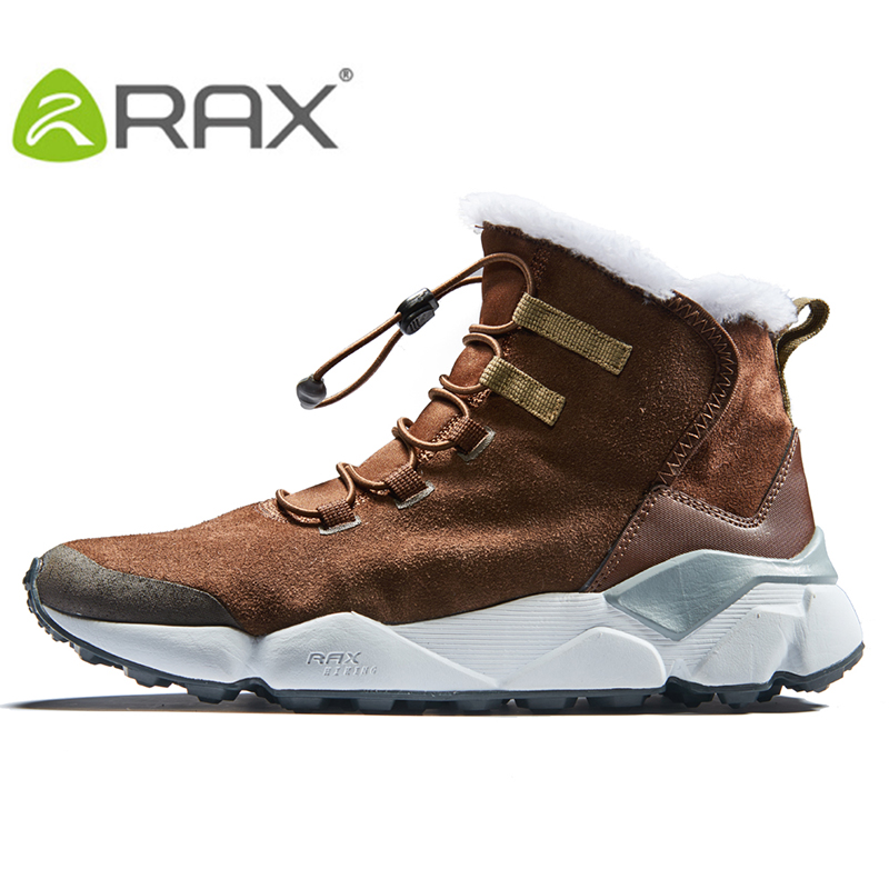 6240ded1 US $61.04 44% OFF|RAX Men's Hiking Shoes Latest Snowboot Anti slip Shoes  with Plush Lining Mid high Classic Style Boots for Professional Men-in  Hiking ...
