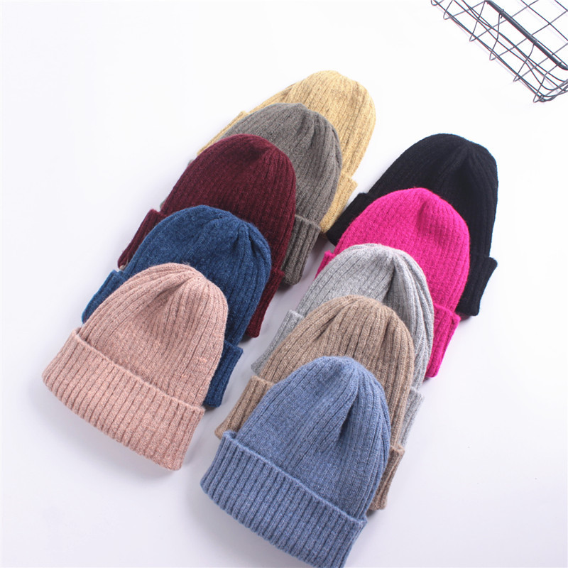 Knitted Beanie Hat Cap For Men Women Winter Warm Womens Ski Caps Gorro  Skull knit Cap Bonnet Cotton Hats-in Skullies   Beanies from Apparel  Accessories on ... 413f374978d
