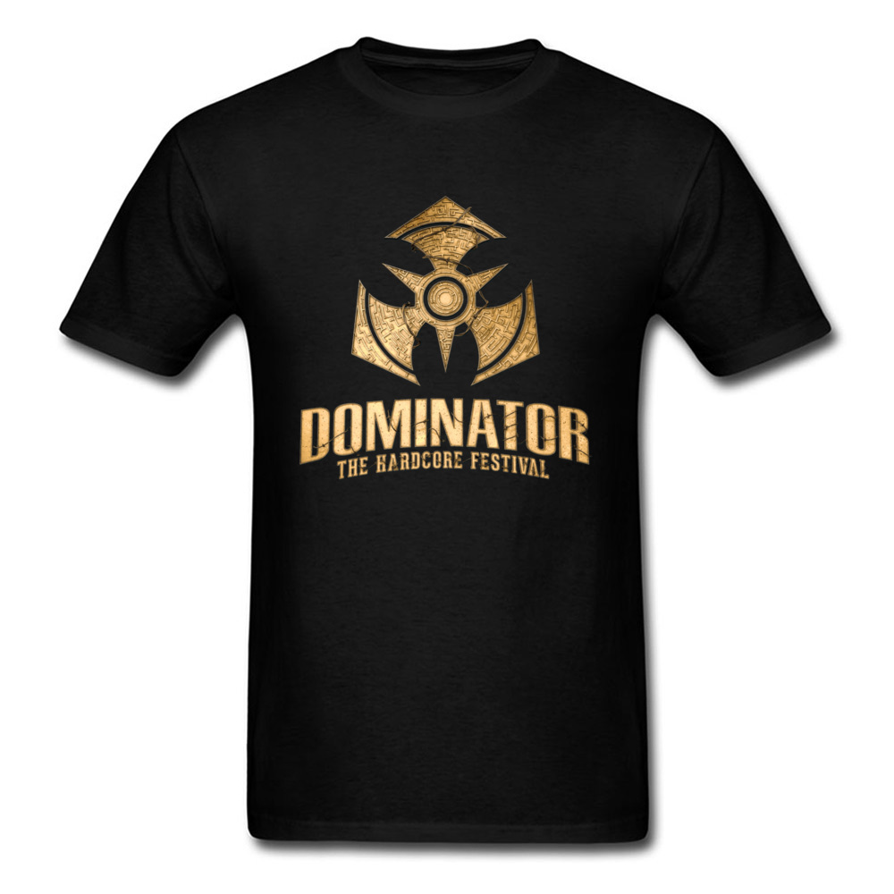 DOMINATOR The Hardcore Festival Game   T     Shirt   Black Faddish Style Youth Cotton Tshirt Crew Neck Leisure Custom Tshirts For Men