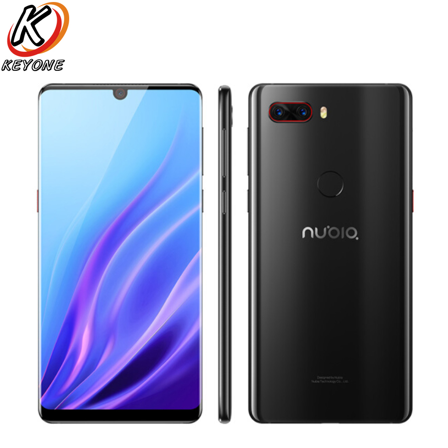 Новый Нубия Z18 4 г LTE мобильный телефон 6,0 6 ГБ/8 ГБ Оперативная память 64 ГБ/128 ГБ Встроенная память Snapdragon 845 двойной сзади Камера 16MP + 24MP Android смар