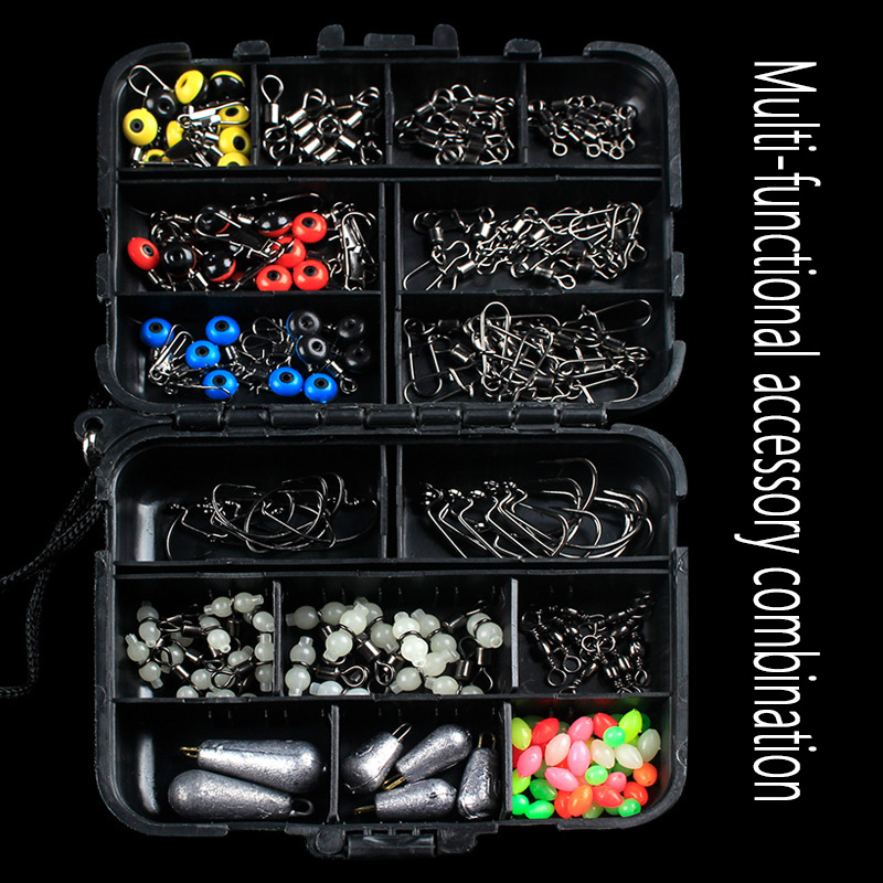 Lead Sinker Float Stoppers Space Beaus Swivels Snaps Floating Fishing Tackle Kit