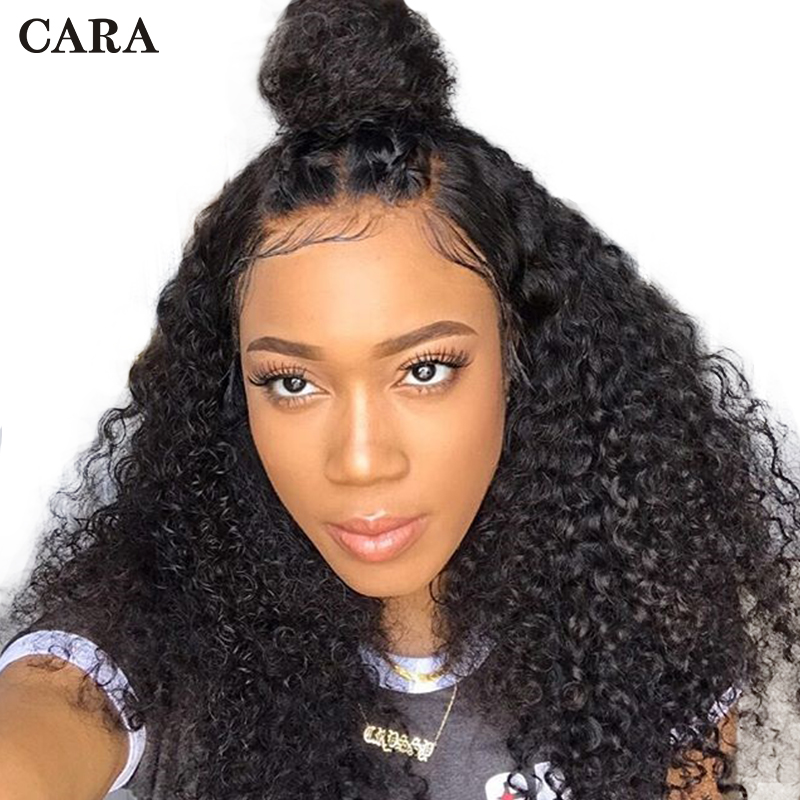 Lace Front Wigs 130% Density Brazilian 13x6 Human Hair Wigs Pre Plucked With Baby Hair Curly Lace Wig Human Remy Hair Wigs CARA