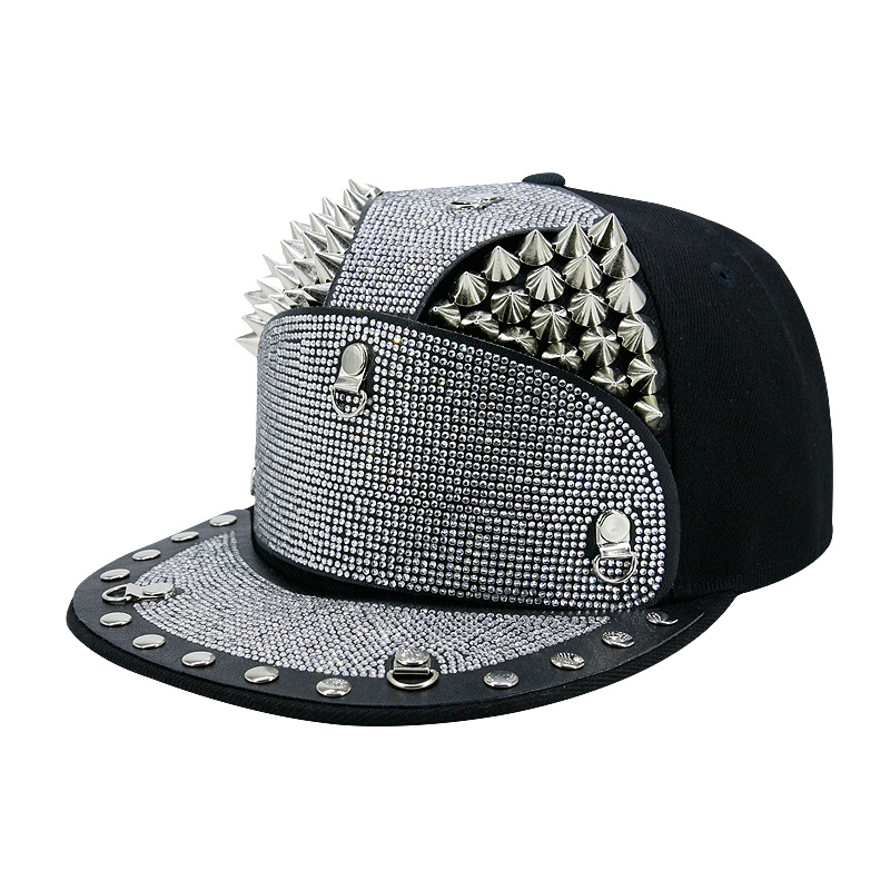 Kagenmo Hip Hop Cool Baseball Cap Fashion Outdoor Hip-Hop Male Female Visor Armor Warrior Hat False Drill Rivets