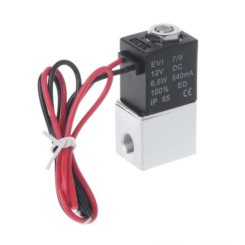 Control de flujo de corriente DC 12V Solenoide Válvula alambre de la bobina W