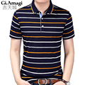 Hot Sale New 2017 Fashion Brand Men Polo shirt Business classic stripes Short Sleeve Slim Fit Shirt Men Cotton polo Shirts