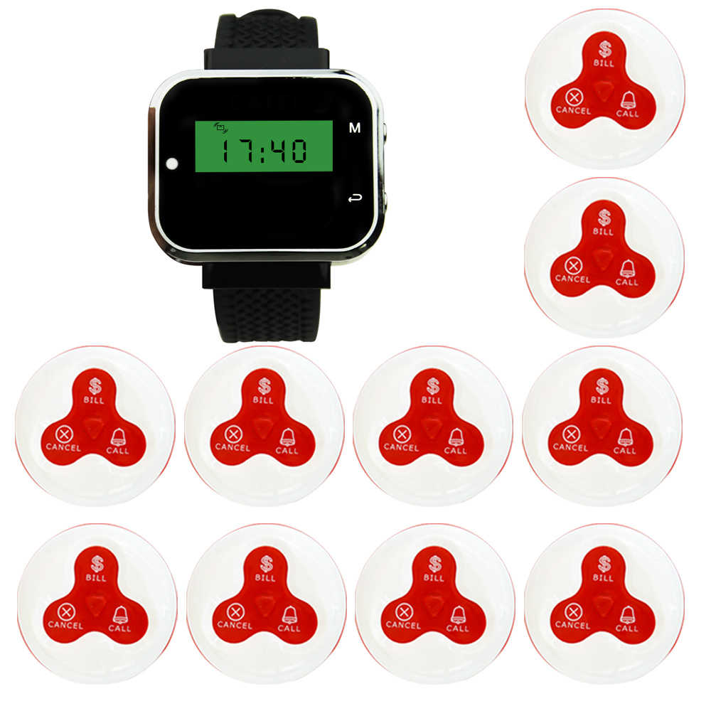 JINGLE BELLS Paging System Pager System 1 Watch Receiver+10
