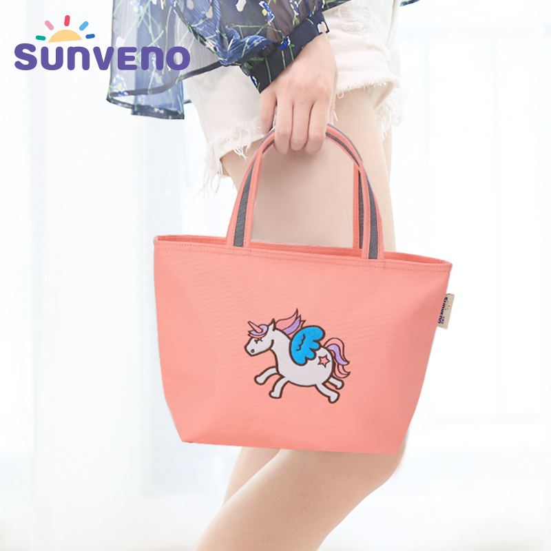 SUNVENO New Thermal Insulation <font><b>Bag</b></font> Hand <font><b>Bag</b></font> Baby Feeding Bottle Cooler <font><b>Bags</b></font> Lunch Box for Baby Care Mother & Kids
