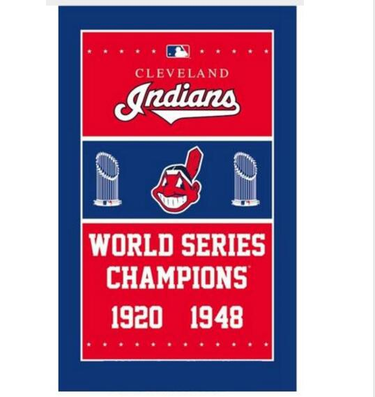 3ftx5ft 1920 1948 Year Cleveland Indians Baseball Champions flag With Metal Grommets
