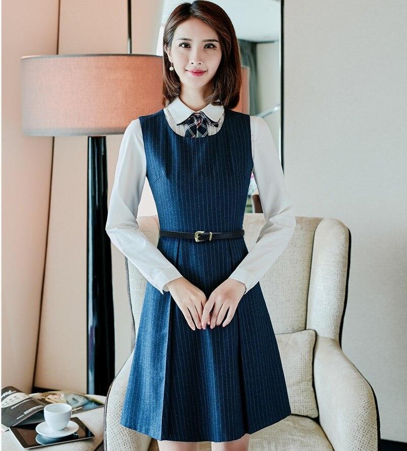 Freundlich Hohe Qualität Formale Weibliche Rock Anzüge Für Frauen Business Anzüge Navy Blau Blazer Und Jacke Sets Damen Arbeit Tragen Ol Stile Rock-anzüge