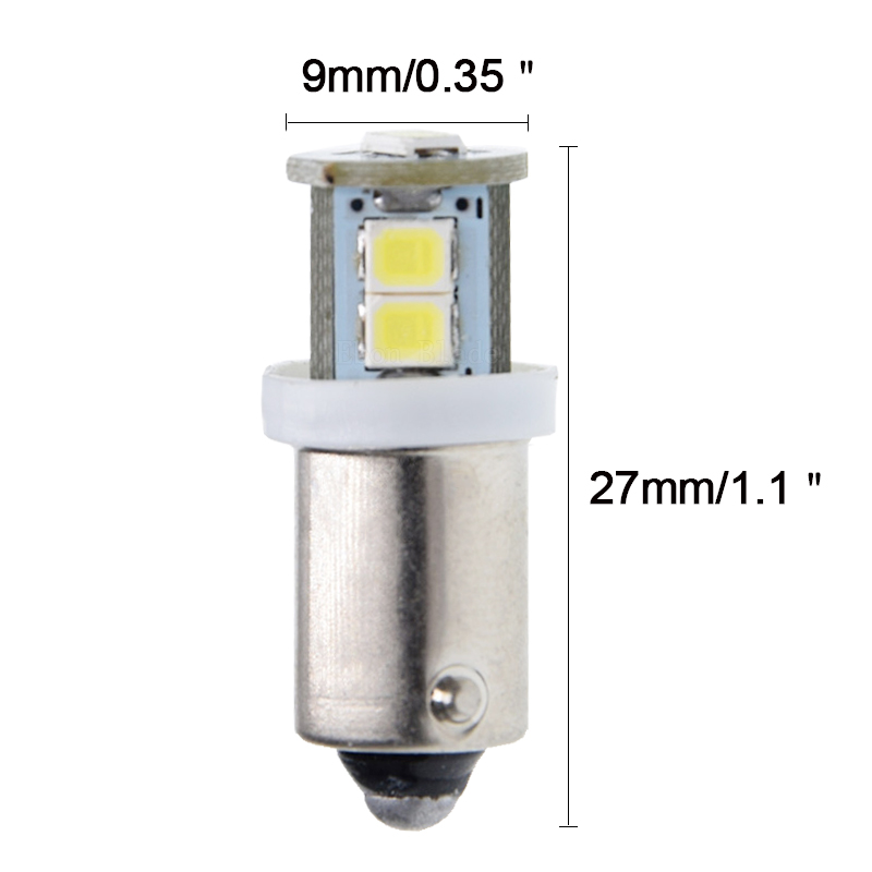 Image 2 - 2/4 Pcs BA9S T11 T4W Bayonet 7 SMD 2835 LED White 6000K Warm White 4300K Car Motor Instrument Panel Dash Gauge Light Bulbs 6V DC-in Signal Lamp from Automobiles & Motorcycles