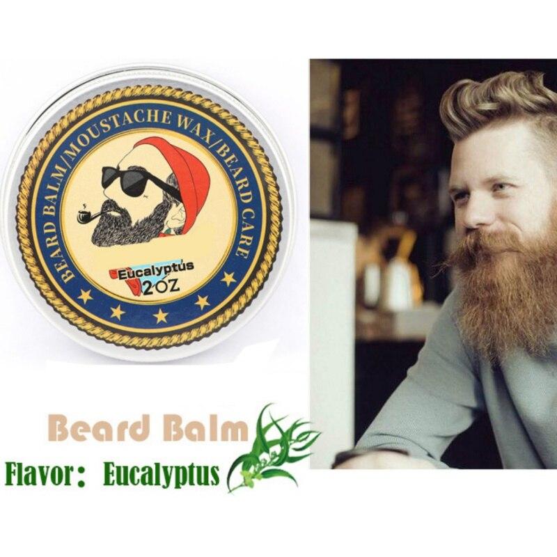 Men Beard Oil Balm Moustache Wax for styling Beeswax Moisturizing Smoothing Gentlemen Beard Care 5
