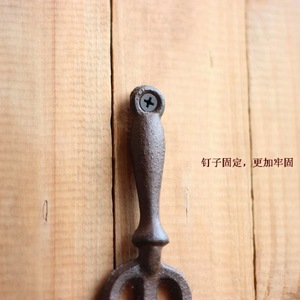 Image 2 - H:19CM   LOFT Industrial Retro European Gardening Cast Iron wall hook Clothes hooks