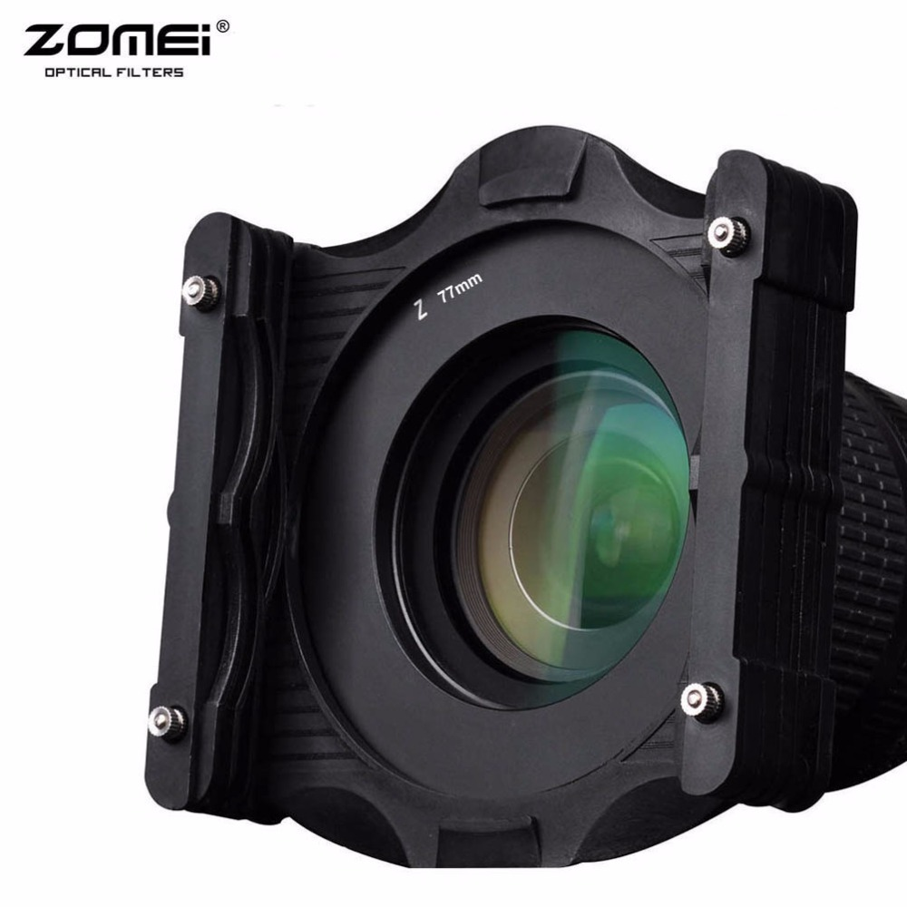 Zomei 67mm/72mm/77mm/82mm/86mm/95mm Adaptor Ring+ Square Filter Holder Support Kit For Cokin Z Series Lee Tiffen 100mm 100x150mm
