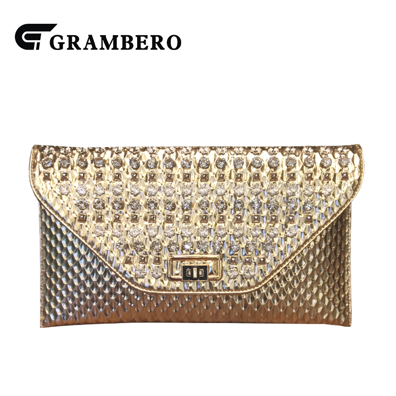 Fashion Diamond Clutch Purse PU Leather Cover Clutches Wallet Women Evening Bag Modern Envelope Crossbody Shoulder Bags for Gift