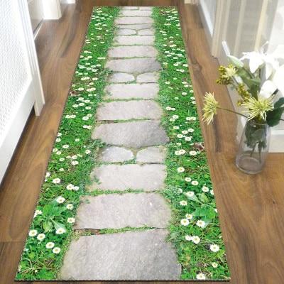 3D carpet living room Carpets bedroom hall entrance hallway aisle mat bathroom kitchen non-slip door mat Medeiterranean style