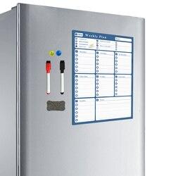 YIBAI 42*30 cm Wöchentlich zeitplan Magnetische Bord, deawing/Nachricht/Schreibtafel Trockenen Löschen Für Home Kühlschrank 4 Farben Erhältlich