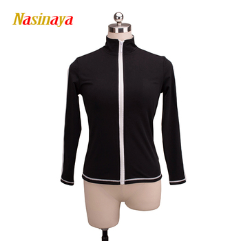 Customized Figure Skating Jacket Zippered Tops for Girl Women Training Competition Patinaje Ice Skating Warm Fleece Gymnastic 13