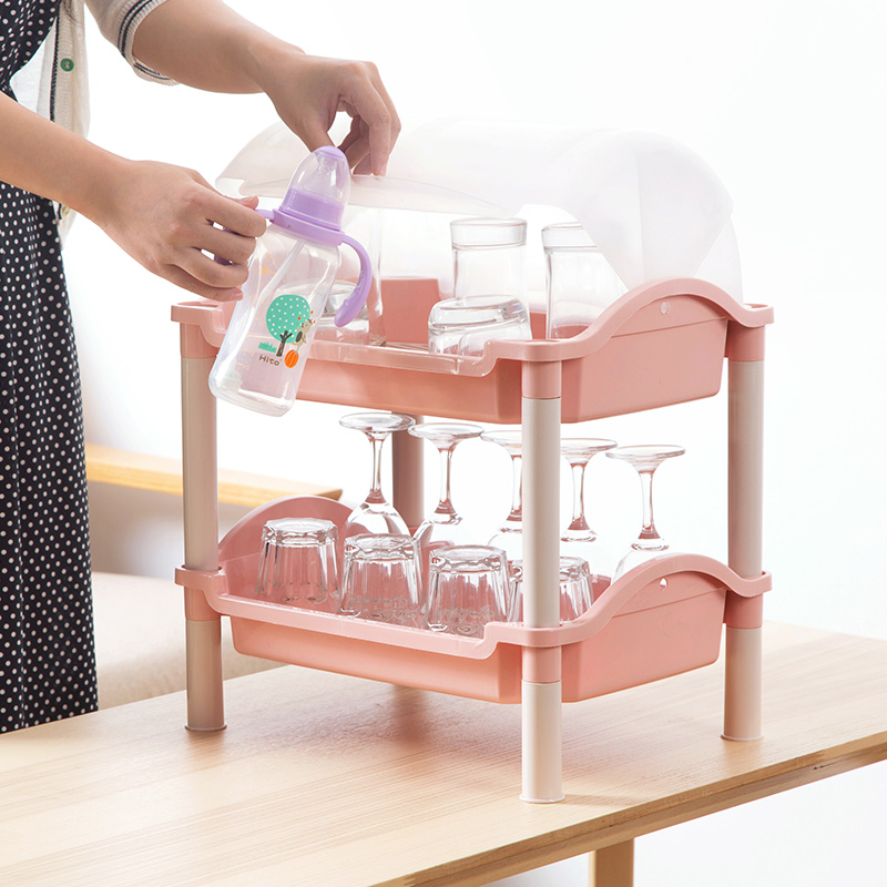 Drain bottle with lid storage rack shelving kitchen table living ...