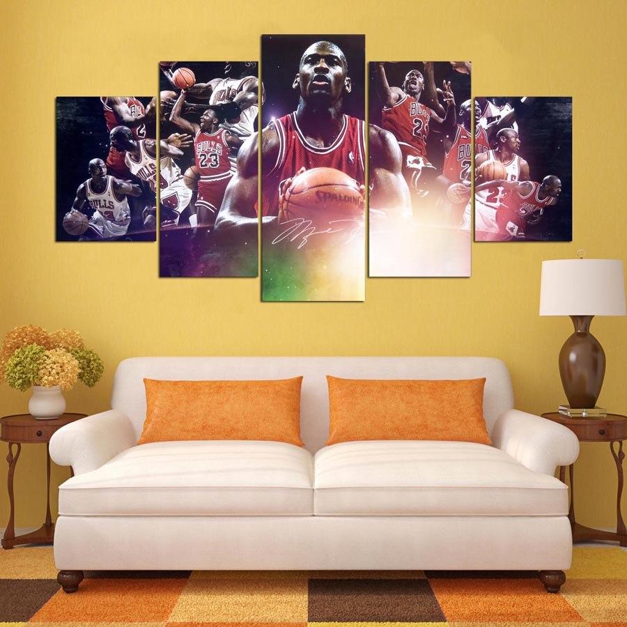 NBA Star Michael Jordan HD Canvas Painting Picture Wall Art Poster ...