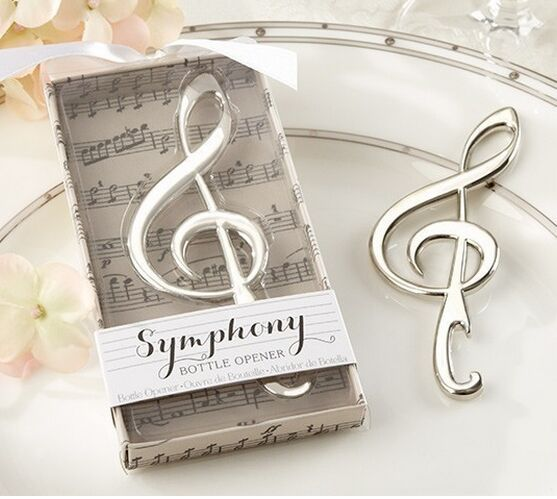 New Wedding Favor Ideas 2015 : 2015 NEW Wedding Favors Gift Symphony Chrome Music Note Bottle Opener ...