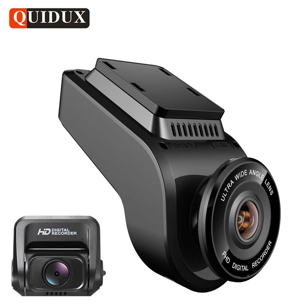 QUIDUX 4K 2160P Dash cam with 1080P Rear Camera GPS logger ADAS IMAX323 sensor car Video Recorder Novatek 96663 Night Vision DVR