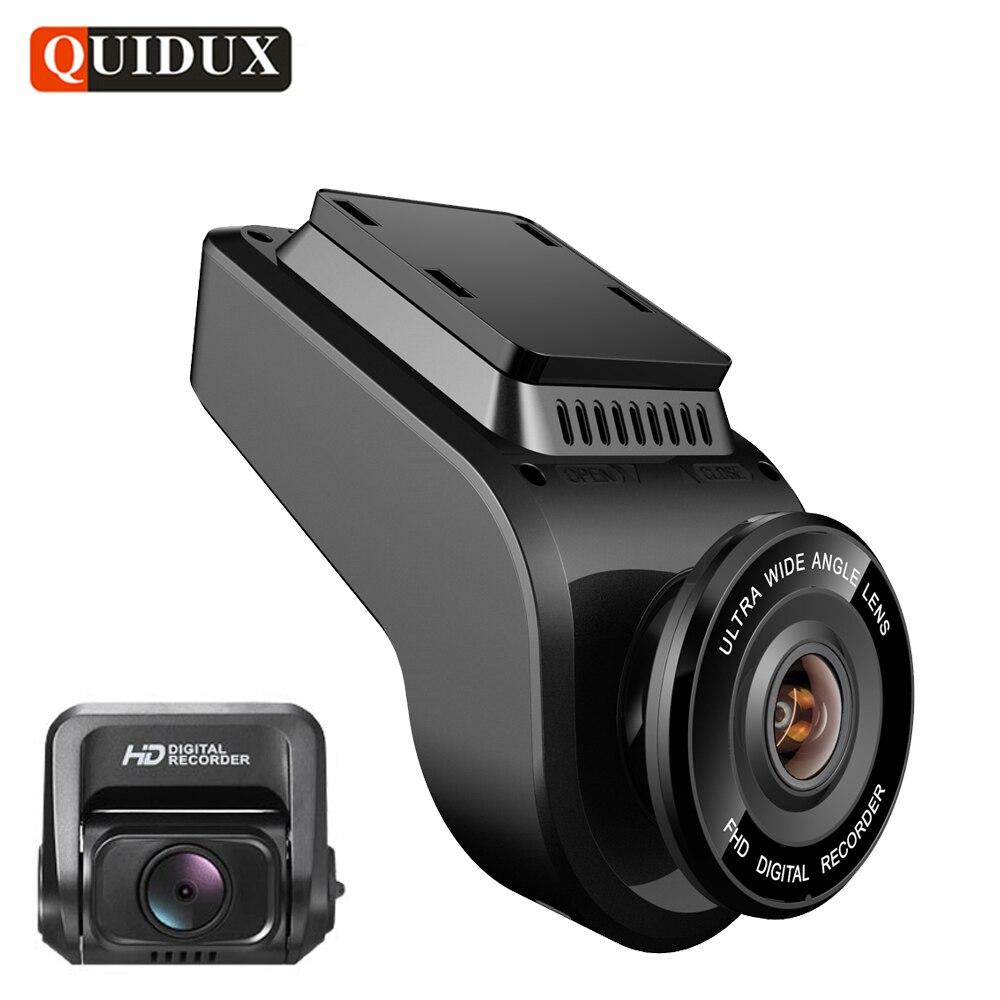 Quidux 4 К 2160 P регистраторы с 1080 P сзади Камера gps logger ADAS IMAX323 датчик автомобиля видео Регистраторы Новатэк 96663 Ночное видение DVR