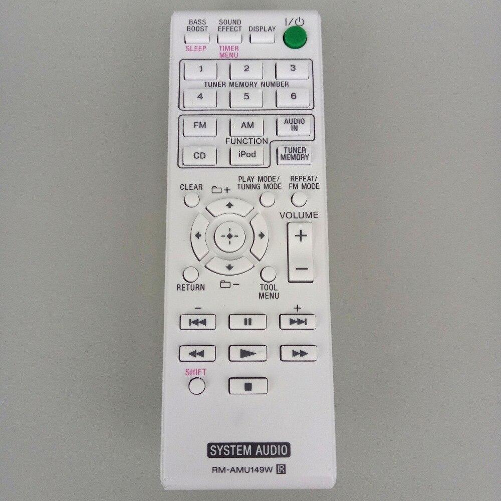 NEW Original Remote control FOR Sony RM-AMU149W RMAMU149W System Audion Fernbedienung white