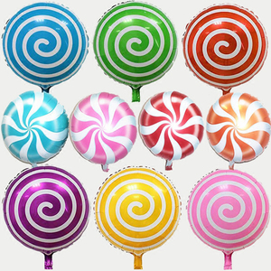 Image 3 - 5Pcs/lot 18 inch Round Lollipop Foil Inflatable Balloon Candy Foil Ballon For Wedding Kids Birthday Party Decoration