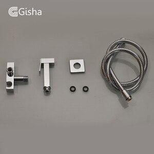 Image 5 - Gisha Bidet Faucets Brass Bathroom Shower Tap Bidet Toilet Sprayer Bidet Toilet Washer Mixer Muslim Shower Ducha Higienica G4003