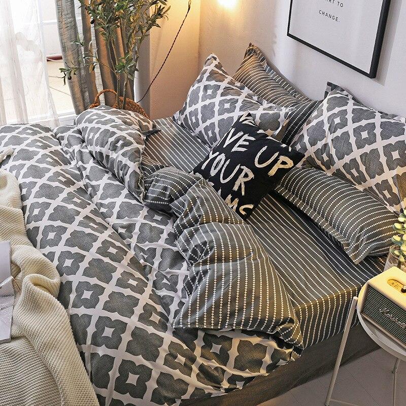 Europe America Japan elegant Sheet Full Size Pillowcase Duvet Cover Sets 3 4 pcs comforter bedding sets in Bedding Sets from Home Garden