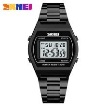 Skmei الرجال الرياضة الساعات الرقمية الفاخرة العلامة التجارية الرجال LED ساعة اليد الإلكترونية 30 متر مقاوم للماء 12/24 ساعة ساعة Relogio Masculino