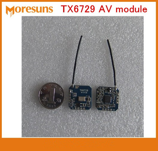 Free Ship 2.4G Small low power wireless audio and video transmission module launch module TX6729 AV transmitter module Free Ship 2.4G Small low power wireless audio and video transmission module launch module TX6729 AV transmitter module