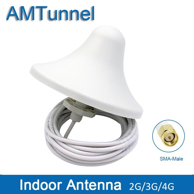 US $14 98 46% OFF|4G antenna 3G omni antenna 4G indoor antenna 5dBi 2G  external antenna with 5m cable and with SMA male connector for indoor  use-in