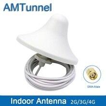 Antena de interior omni 4G, 3G, 5dBi, 2G, con cable de 5m y conector macho SMA para uso en interiores