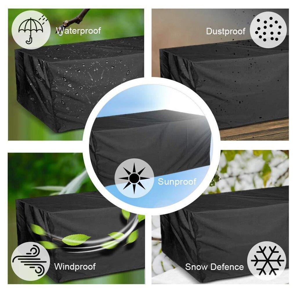 Outdoor Garden Furniture Rain Cover Waterproof Oxford Sofa Protection Garden Patio Rain Snow Dustproof Black Covers