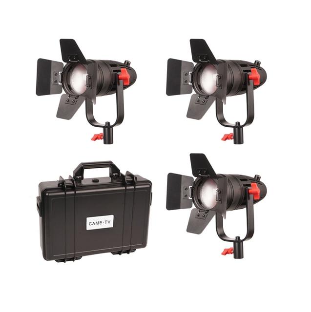 3 Pcs CAME TV Boltzen 30w Fresnel Fanless Focusable Led Daylight Led video light