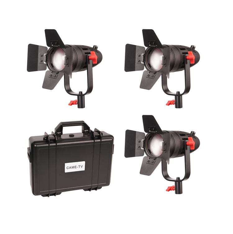 3 Pcs CAME TV Boltzen 30w Fresnel Fanless Focusable Led Daylight-in Photo Studio Accessories from Consumer Electronics