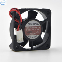 Original KDE0504PFB2 Computer Blower Double Ball Cooling Fan DC 5V 0.4W 0.14A 4010 40*40*10mm 5800RPM 2 Wires