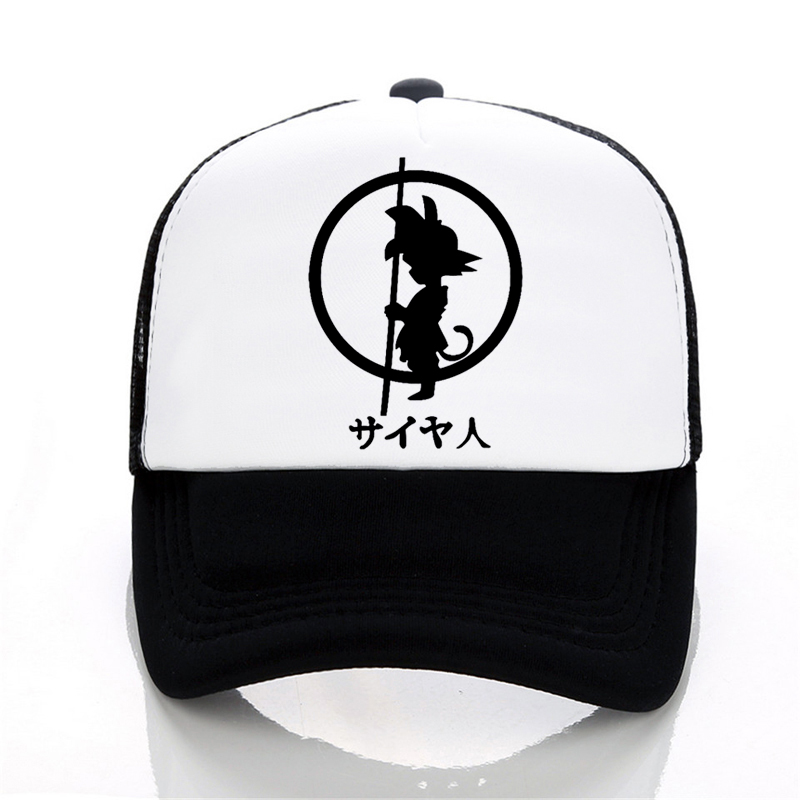 Brand Dragon Ball z goku   Baseball     cap   Men Fashion Men's Casual summer Mesh   cap   Letter print cartoon trucker   cap