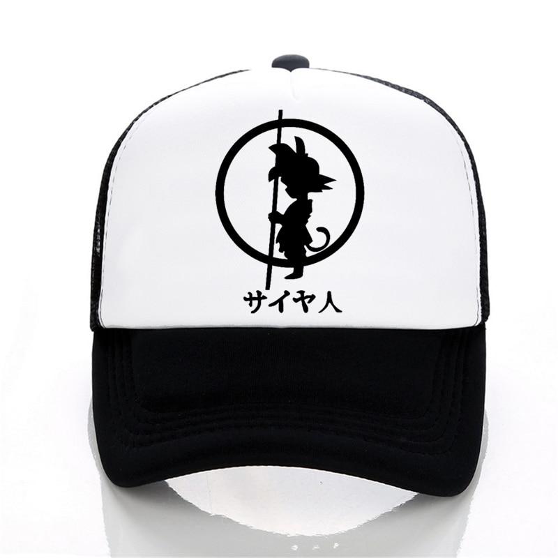 Brand Dragon Ball z goku   Baseball     cap   Men Fashion Men's Casual summer Mesh   cap   Letter print cartoon trucker   cap