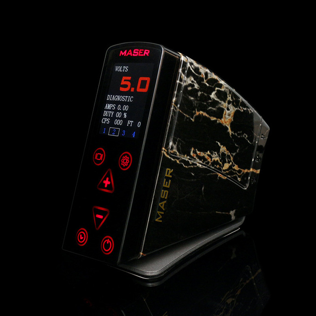 DHL Free Shipping High-Quality Power Box Master Artist Maser LCD Digital Tattoo Machine Power Supply