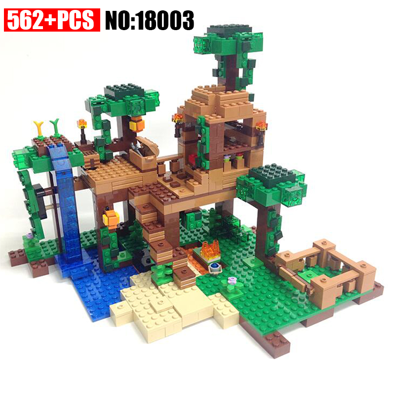 NEW 18003 my world series The Fortress model Building Blocks set compatible original 21125 10471 My world Toys for children my world tree house brick scene series steve mini blocks model building blocks kit toys for children compatible 21125