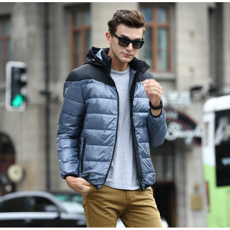 2016 plus size parka men Mens down coat winter down jacket White duck down